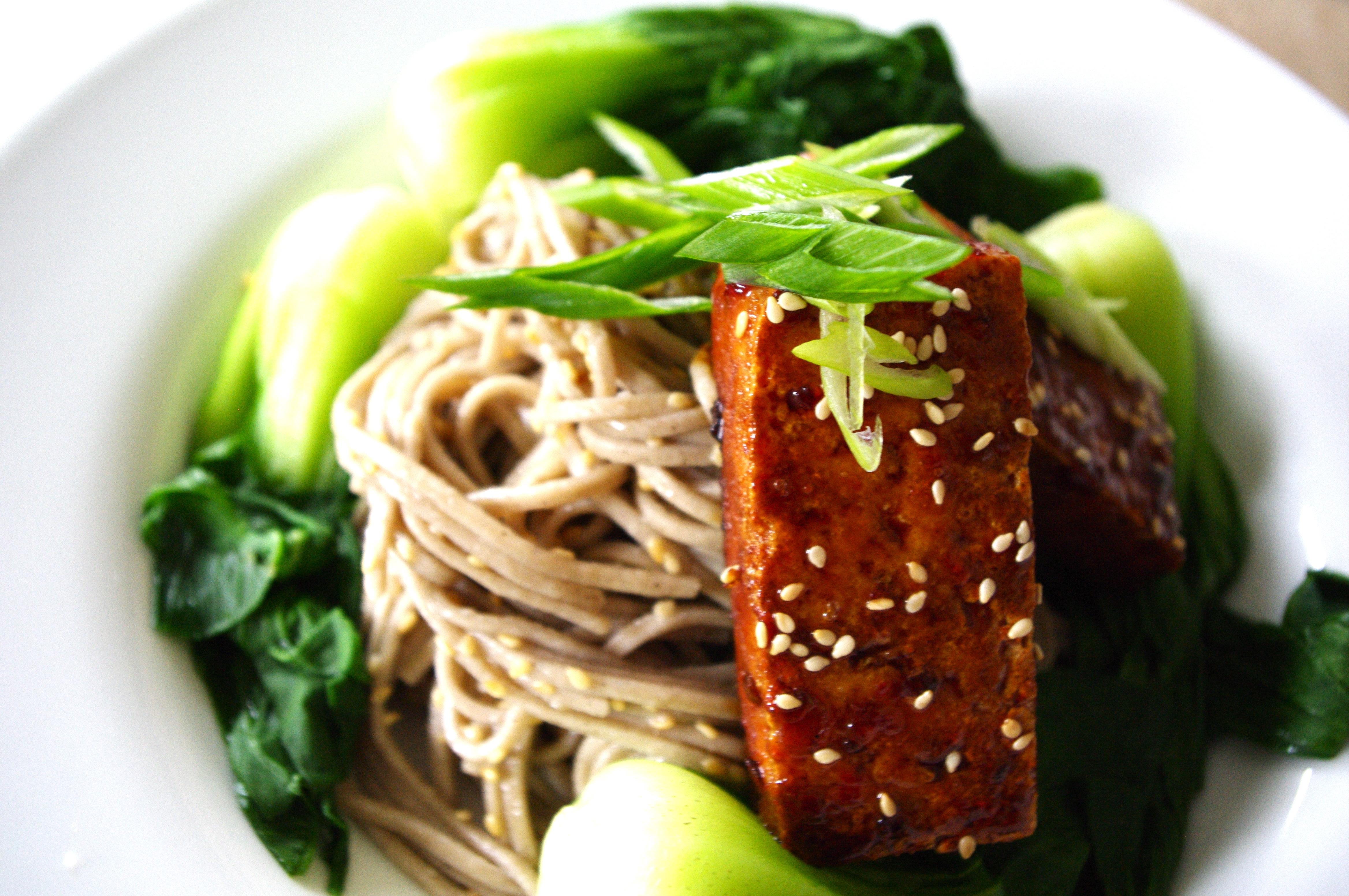 Tofu And Soba Noodles With Lemon Ginger Dressing Recipes — Dishmaps